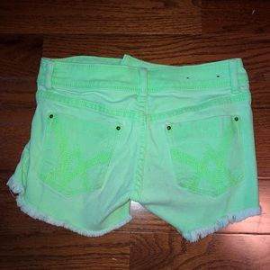 Lime Green Neon Shorts